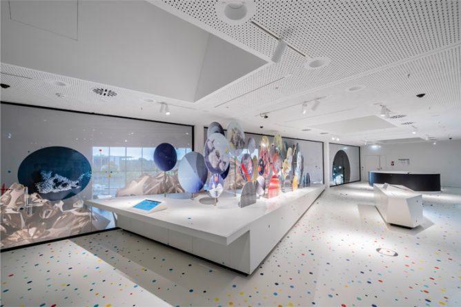 Das Museum Futurium in Berlin beleuchtet mit Mawa Leuchten