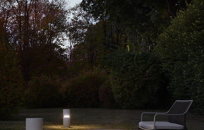Luceplan Nui die Steh- und Wandleuchten für den Außenbereich