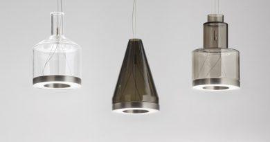 Die neue Medea Leuchte von Vistosi zeichnet sich durch geometrische Formen aus